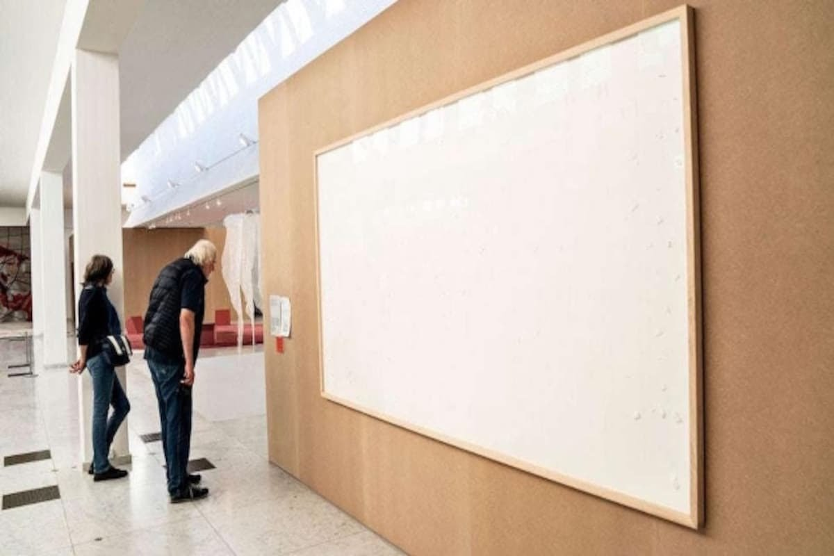 Danish artist takes $84,000 from museum; submits two blank canvases titled 'Take the Money and Run'
